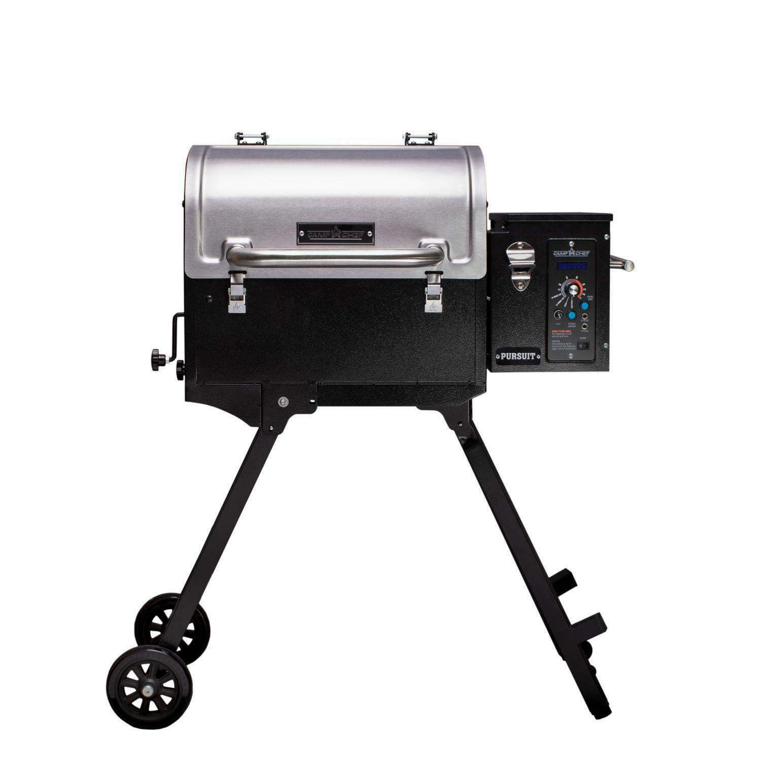 Camp Chef Pursuit 20 Portable Pellet Grill Smoker, Stainless