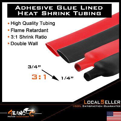 34 Heat Shrink Tubing Glue Lined Dual Wall Assortment 31 Ratio Red Black