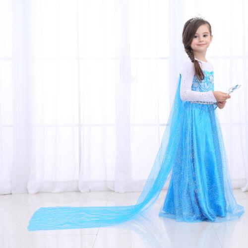 snow queen princess dress elsa costumes birthday