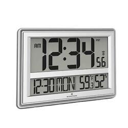 Marathon Jumbo Atomic Wall Clock with Large Display, Date, Indoor Temperature