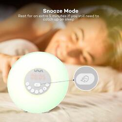 VAVA Alarm Clock with Sunrise Simulation for a Natural Wakeup 7 LED Lights LED09