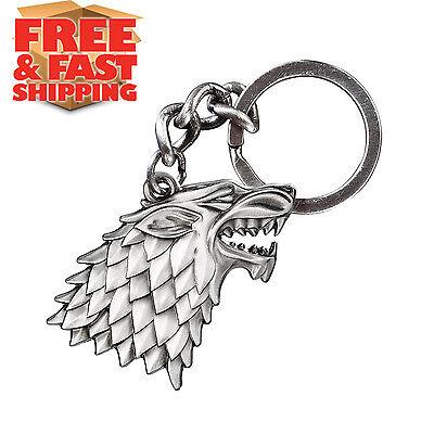 Game of Thrones Stark Sigil Keychain Metal Key Chain Ring Keyring Gift Car