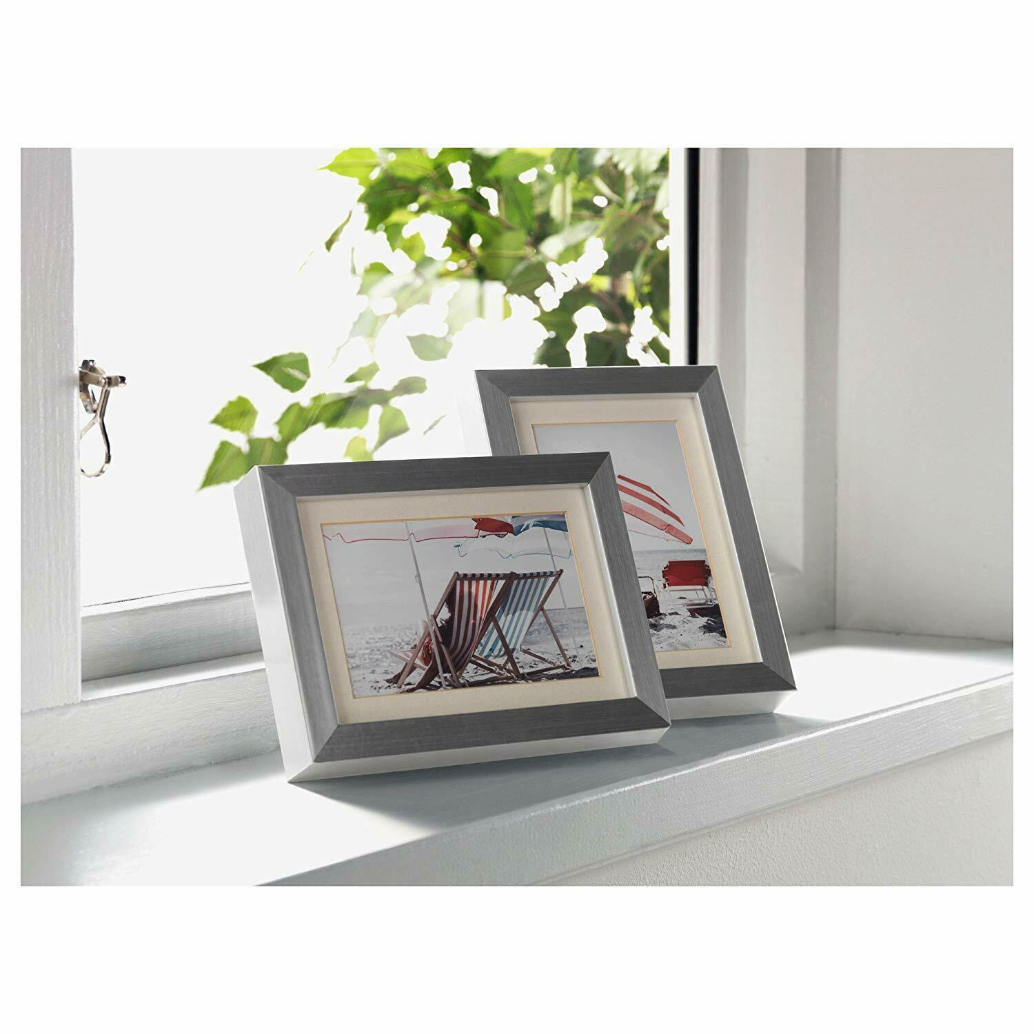 """IKEA 4.75/""""x6.75/""""x1.25/"""" PICTURE FRAME Holds 4x6//3.5x5 RIBBA Easel+Hanging BLACK"""