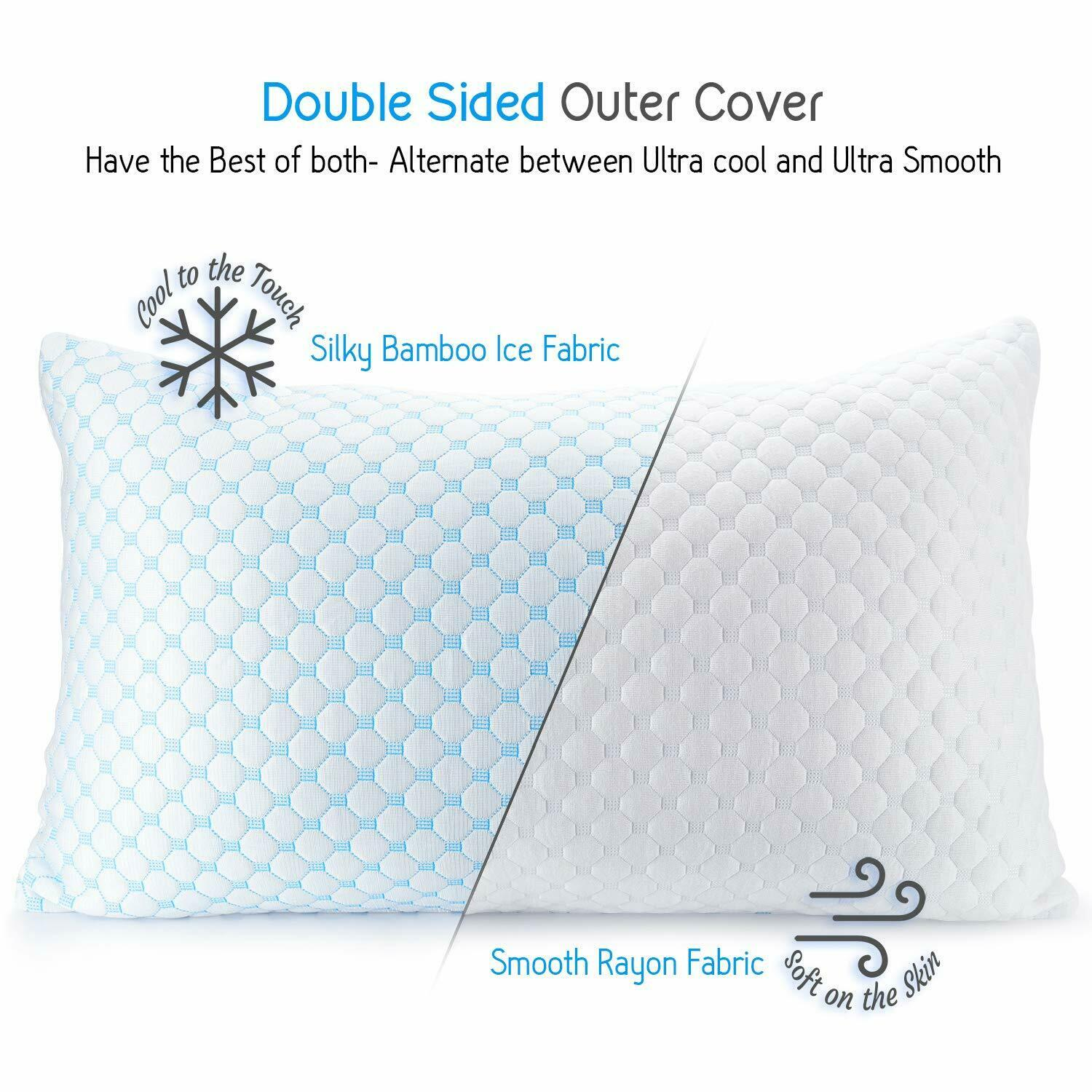 Cooling Memory Foam Pillow Ventilated Bed Pillow Infused Coo