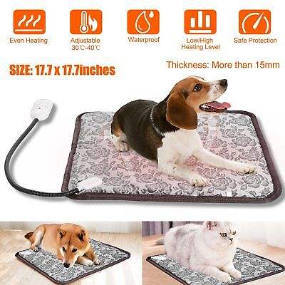 Waterproof Pet Electric Pad Blanket Heat Heated Heating Mat Dog Cat Bunny Bed US