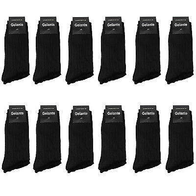 - Gelante Men All Black Dress Socks Fashion Casual Cotton 3,6,12 Pairs size 10-13