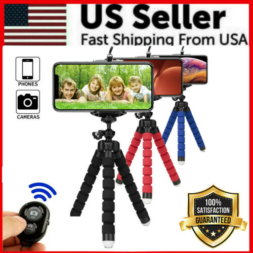 Flexible Tripod Octopus Bluetooth Remote Universal For iPhone Samsung Phone Hold