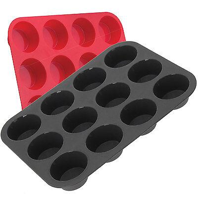 12er Silikon Muffin Backform Kuchenform Muffinform Muffinförmchen Muffinbackform