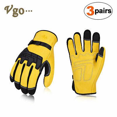 Vgo 1pair3pairs Premium Cow Grain Leather Work Glovesdriver Glovesca1012