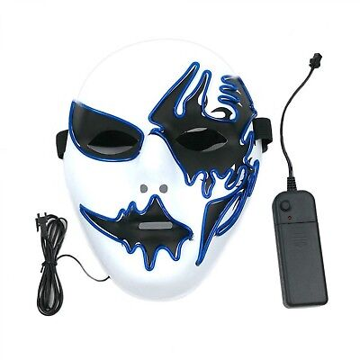 Cool Halloween Decoration (Halloween Mask With LED Light Decoration DIY Cool Style Birthday Cosplay)