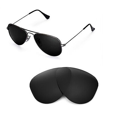 New Walleva Polarized Black Lenses For Ray-Ban Aviator RB3044 Small Metal 52mm