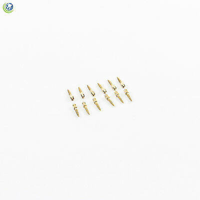 Dental Gold Plated Screw Posts Conical Cross Head Refill Size Large 2 L2 12box