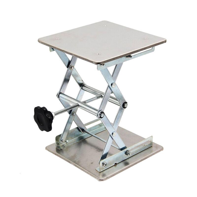 "HFS(R) 8"" x 8"" Lab Jack Scissor Stand Platform - 10"" Height - 15kg/33lbs"