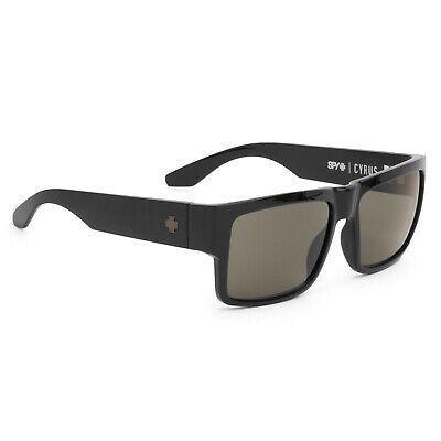 Spy Cyrus Soft Matte Black - Happy Grey Green Polar Sunglasses