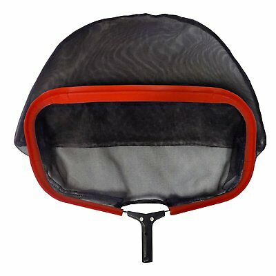 Heavy Duty PRO Swimming Pool Skimmer Leaf Rake w/Frame Black Mesh Net Red Baron