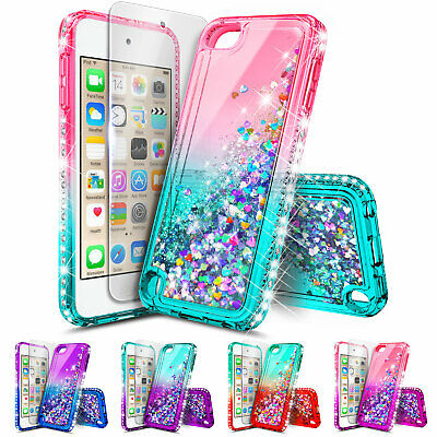 iPod Touch 5th 6th 7th Gen Case | Glitter Liquid Bling Cover + Screen Protector Ipod Touch Screen Protector