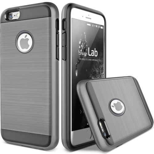 For iPhone X 6 6S 7 8 Plus Hybrid Hard Heavy Duty Shockproof Rubber Case Cover