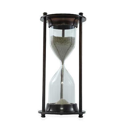 Home Office Living Room Desk Decor Gift Vintage Wooden Hourglass Sand Timer