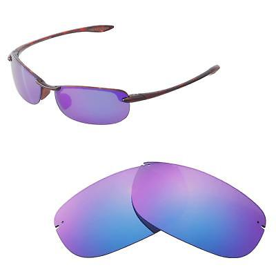 abaf9805a55a New Walleva Polarized Purple Replacement Lenses For Maui Jim Makaha  Sunglasses