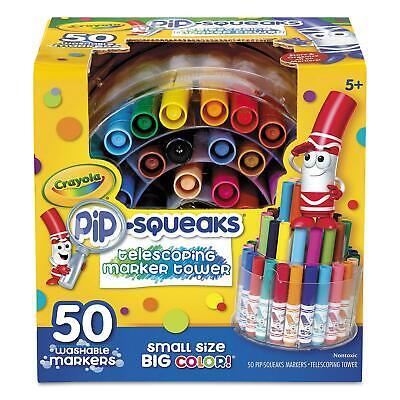 Crayola® Pip-Squeaks Telescoping Marker Tower, Assorted Colors, 50/Set - Crayola Marker Set