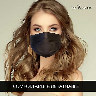 The Finest Life Silk Face Mask Reusable, Adjustable and Comfortable