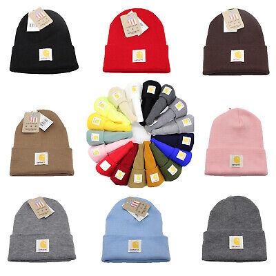 Carhartt Men's Acrylic Watch Beanie Warm Winter Knit Beanie Cap/Hat A18 Authenti Winter Watch Cap