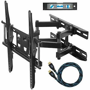 Cheetah Mounts APDAM3B Dual Articulating Arm TV Wall Mount Bracket for  20-65 TVS