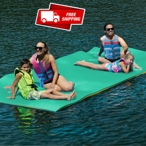 Huge 7 Person Floating Oasis Foam Raft Lake Sea Water Pad Mat - 15