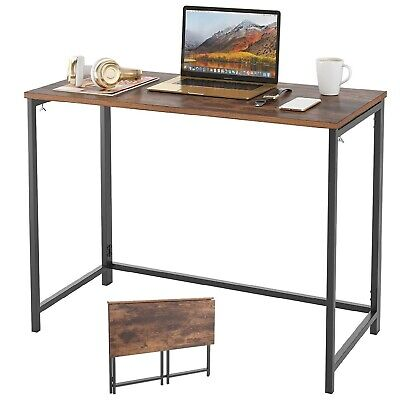 Wood Foldable Computer Desk Laptop PC Table Home Office Study Simple Workstation