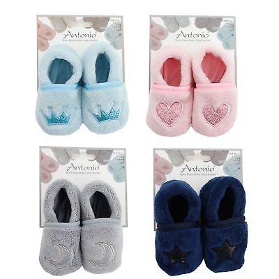 Baby Schuhe Antonio Hausschuhe Baby Schühchen 4 Farben Größe 18-19 UK 2-3 US 3-4 ()