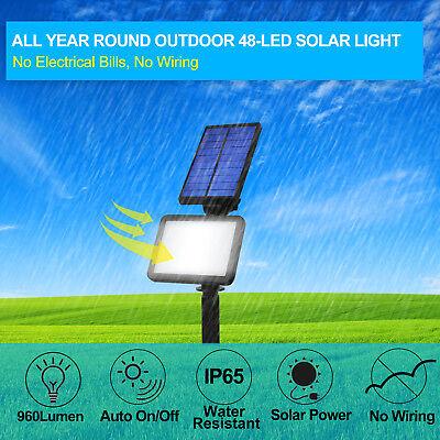Waterproof 48LED Solar Power Outdoor Spotlight Garden Lawn Lamp Landscape Lights (Solar Landscape Spotlight)