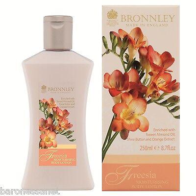 BRONNLEY FREESIA MOISTURIZING BODY LOTION 250ML Almond oil Shea butter Orange