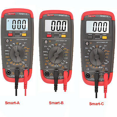 Digital Lcd Multimeter Voltmeter Capacitance Temperature Resistance Auto Range