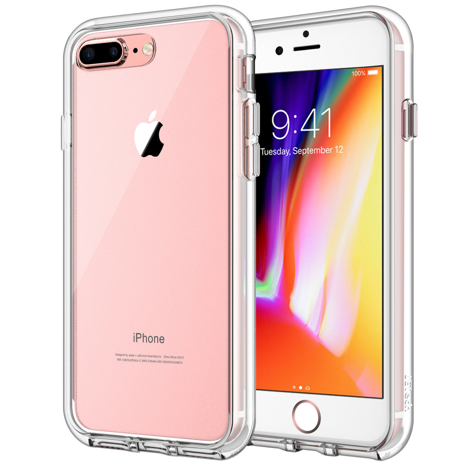 JETech Case for iPhone 8 Plus iPhone 7 Plus 5.5-Inch Shockpr