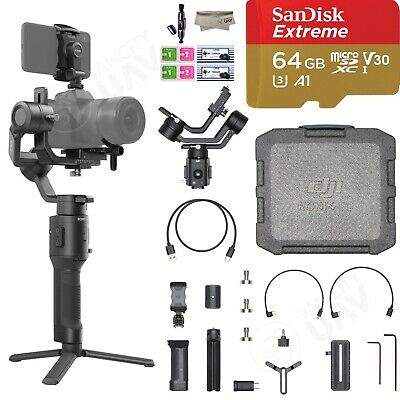 DJI Ronin-SC 3-Axis Gimbal Stabilizer for Mirrorless Camera with SanDisk 64GB SD