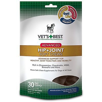 Vet's Best Hip & Joint Soft Chews Dog Supplements, 30 Day Supply