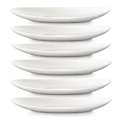 Set of 6 Bormioli Rocco 32cm White Oval Steak Plates Platter Kitchen Tableware for sale  Glasgow