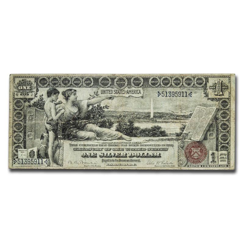 1896 $1.00 Silver Certificate Educational Note Fine - SKU#212952