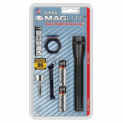 Maglite Mini Maglite 2AA Black Combo Pack Incandescent M2A01C
