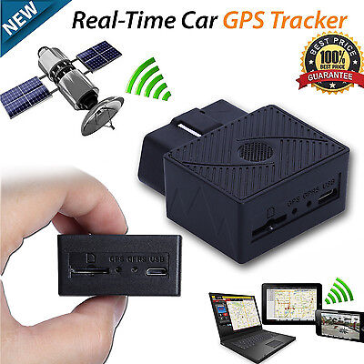 Car Vehicle Truck GPS Realtime Tracker Mini OBD II OBD2 Tracking Device GSM GPRS