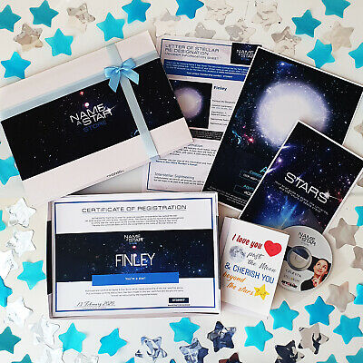 Personalised Birthday Gift For Him Name A Star Box Set Cousin Nephew Best