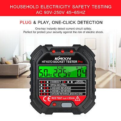 Socket Outlet Tester Circuit Polarity Voltage Detector Wall Plug Finder Rcd Test