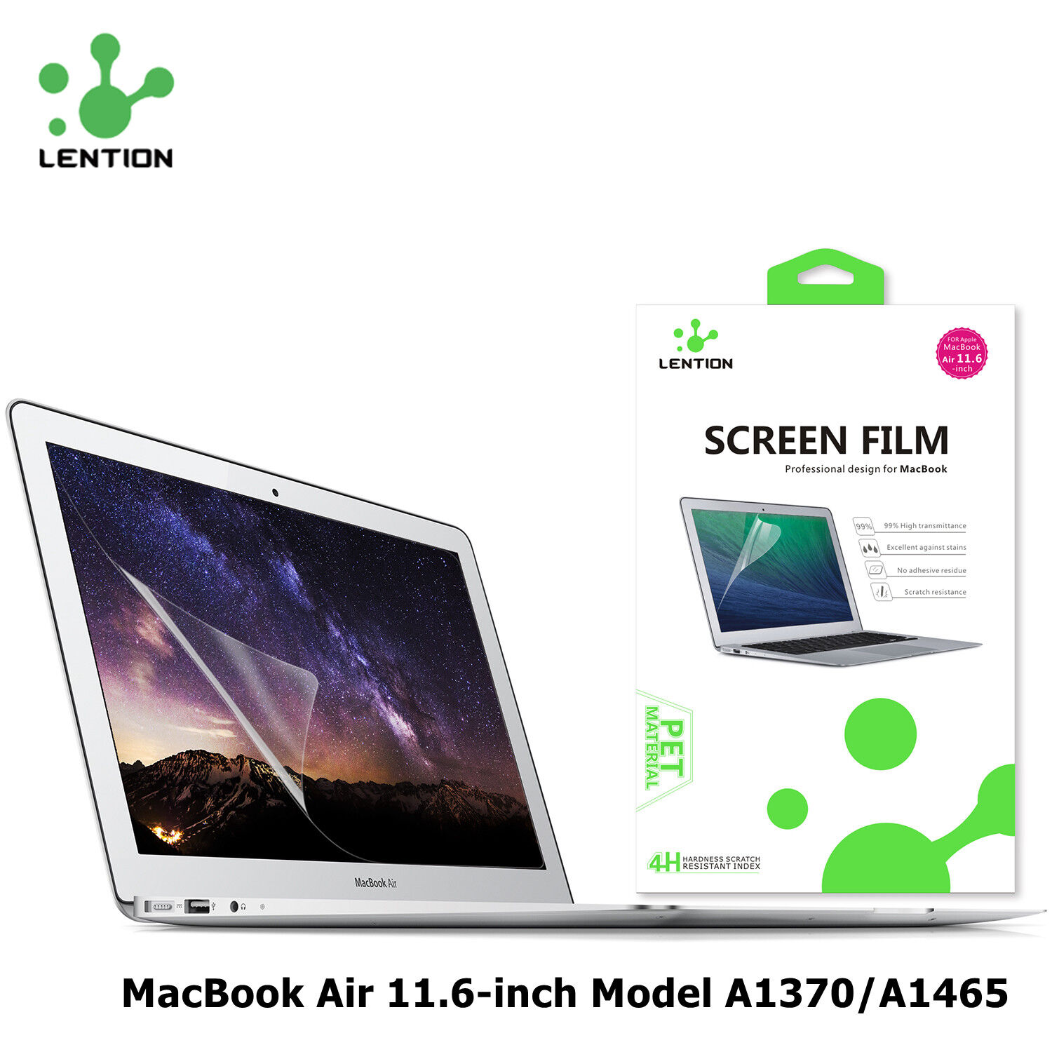 Clear HD Screen Protector Guard Film Cover for Apple MacBook