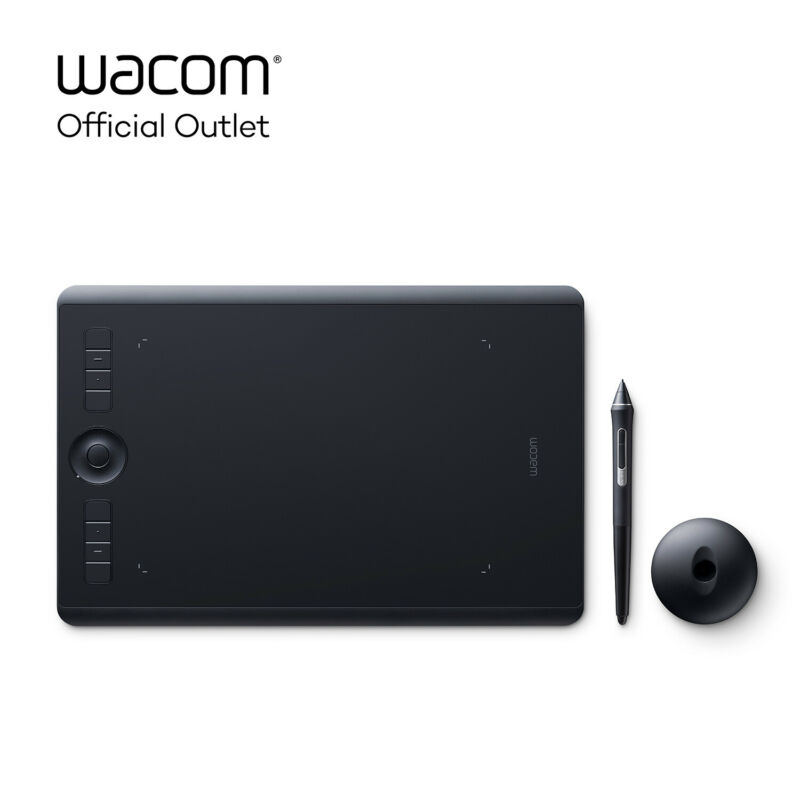 Wacom Intuos Pro Medium Digital Graphic Drawing Tablet with Pro Pen 2, New Mo...