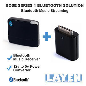 Bose-SoundDock-Series-1-Bluetooth-Dock-Adapter-Music-Receiver-12v-5v-Converter