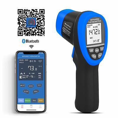 Infrared Thermometer Ir -50-800c Meter Auto Gun Bluetooth Thermal Sensor Gauge