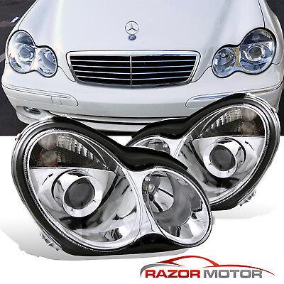 C32 Amg - 2001-2007 Projector Headlights For Mercedes Benz W203 C-Class C230 C240 C320