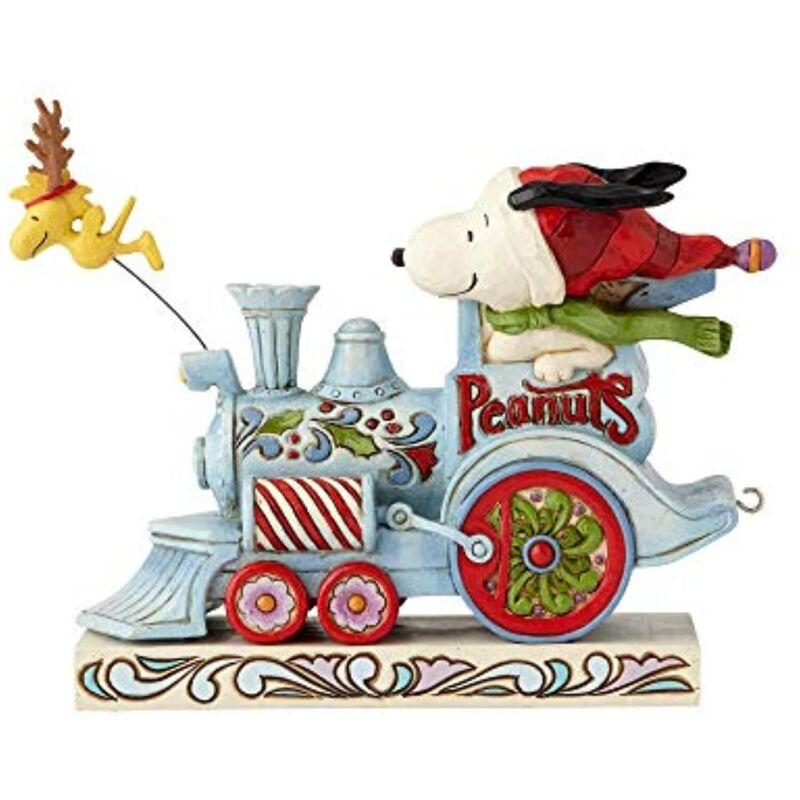 Jim Shore Peanuts Snoopy Woodstock Christmas Train Engine Car 1 6000987