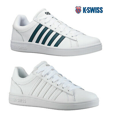 K-Swiss Mens Court Winston Trainers Leather Lace Up Low Top Casual Sneakers