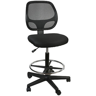 Office Chair Mesh Task Chair Comfort Adjustable Tall Drafting Stool Swive Wfoot